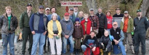 Founder Tom Steinburn with Wolfe Property Work Party in 2011