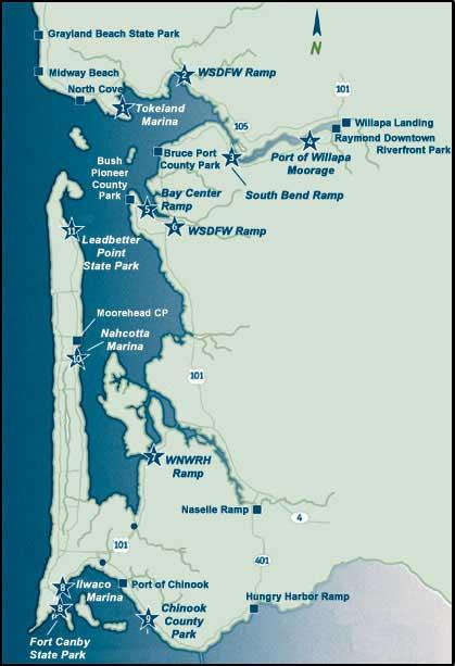 Willapa Bay Trail Map