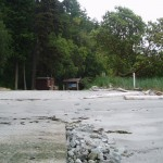 Boat ramp is at east end of beach