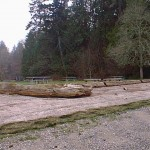 Beach approach at main picnic area with site to the north