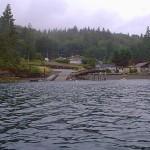 Boat ramp and fishing pier at Triton Cove