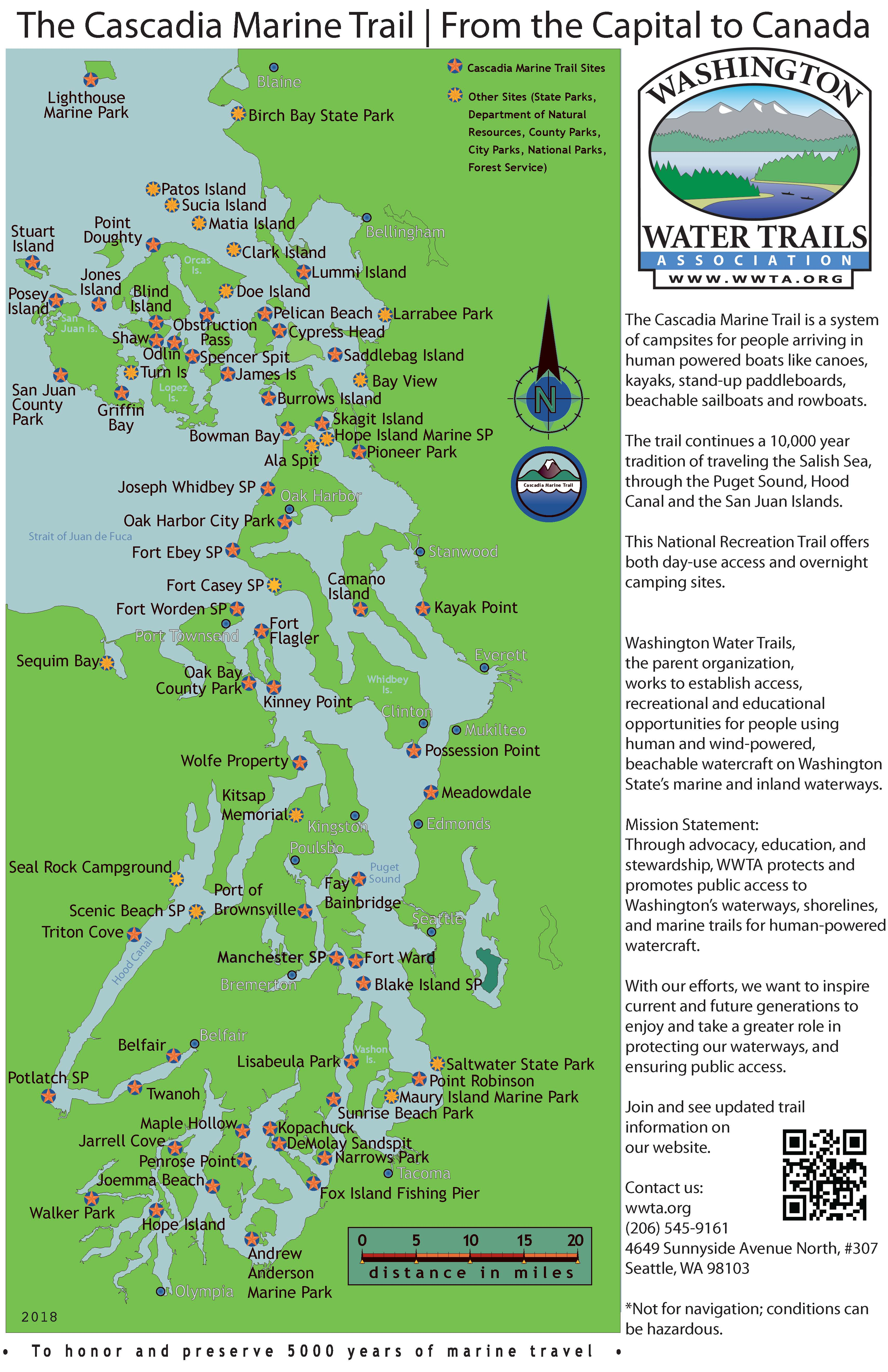 Cascadia Marine Trail Map on